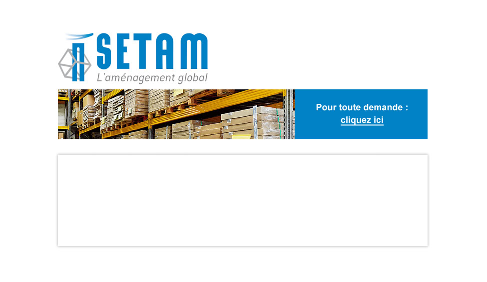 Setam Rayonnages Armoires Bacs Caisses Stockage